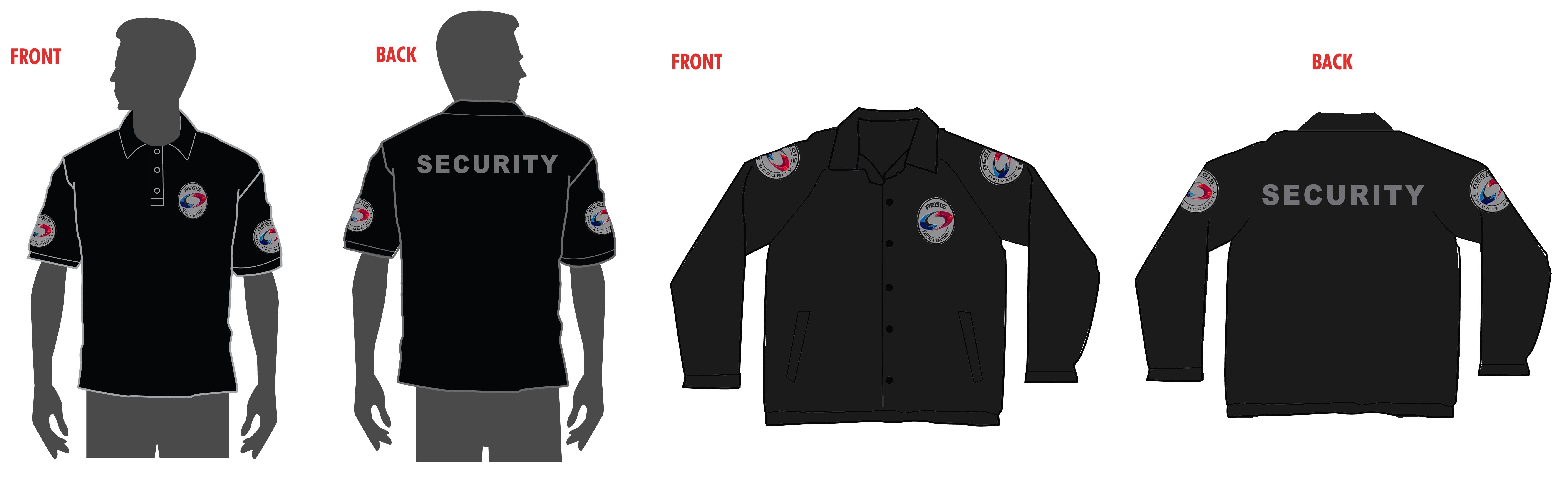 Black t shirt security - Security Uniform